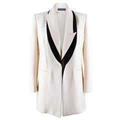 Alexander McQueen Cream Jacket with Black Trim  US size 8