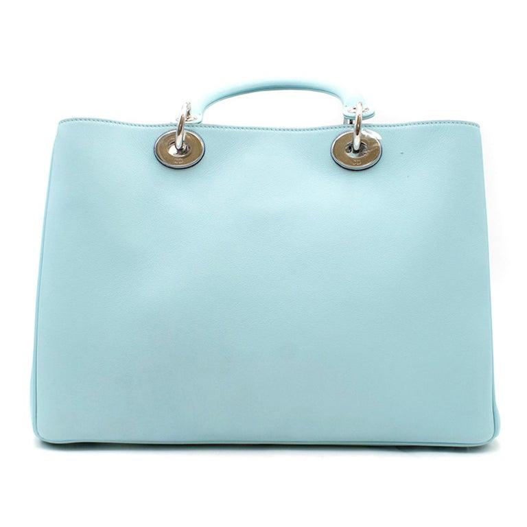 85e56de66e8 Dior Blue Diorissimo Bag - Leather - Blue top handle bag - Two top handles  with