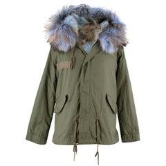 Mr & Mrs Italy Army Fox Fur Khaki Jacket US size 0-2