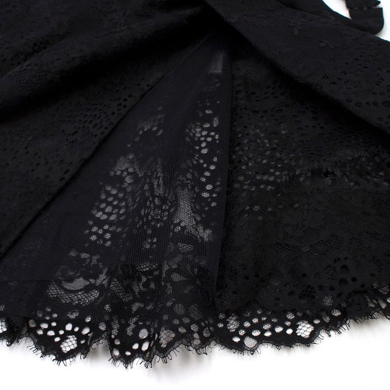 Elie Saab Black Lace Halterneck Mini Dress  For Sale 1