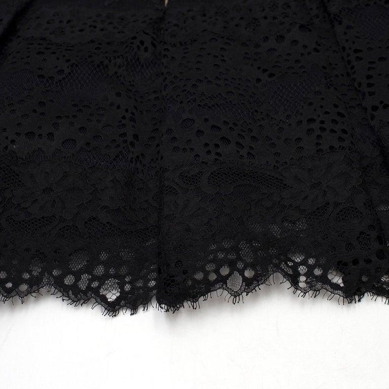 Elie Saab Black Lace Halterneck Mini Dress  For Sale 2