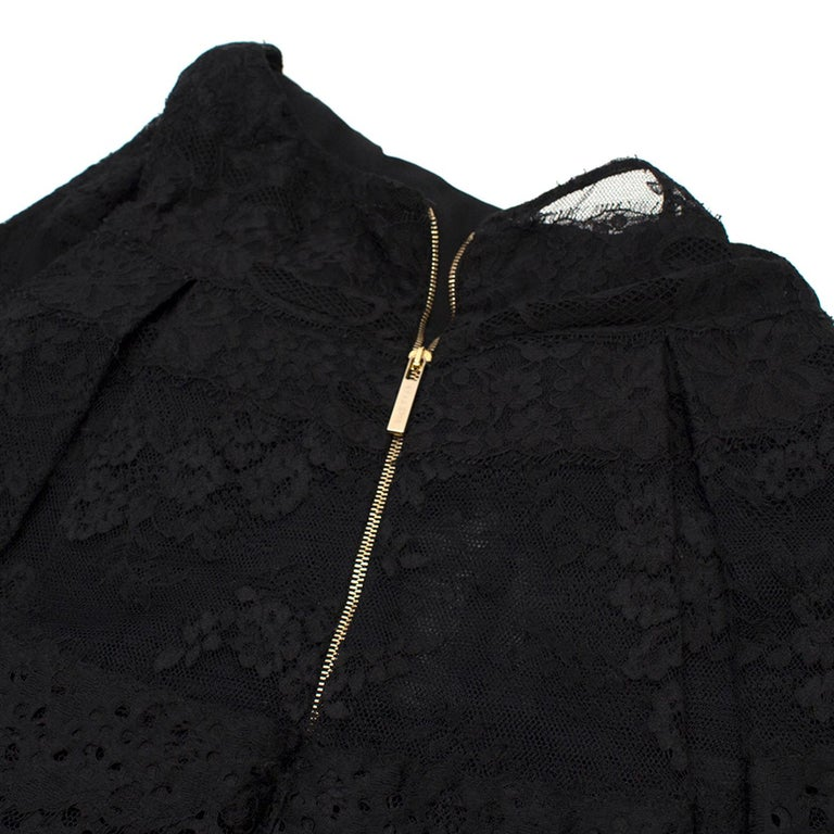 Elie Saab Black Lace Halterneck Mini Dress  For Sale 3