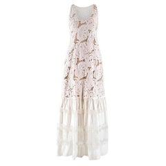 Zuhair Murad White Brorderie Anglaise Dress Size 4