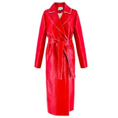 Walk of Shame Moscow Red Laminated Tweed Coat - SOLD OUT size 4