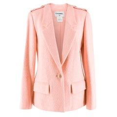 Chanel Pink Tweed Jacket US 6