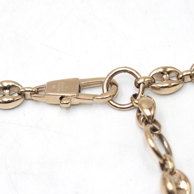 Women's Gucci Gold Tone Mariner Link Chain Belt US 8 For Sale