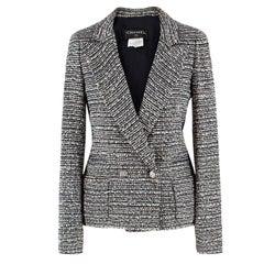 Chanel Black and White Tweed Jacket US 2