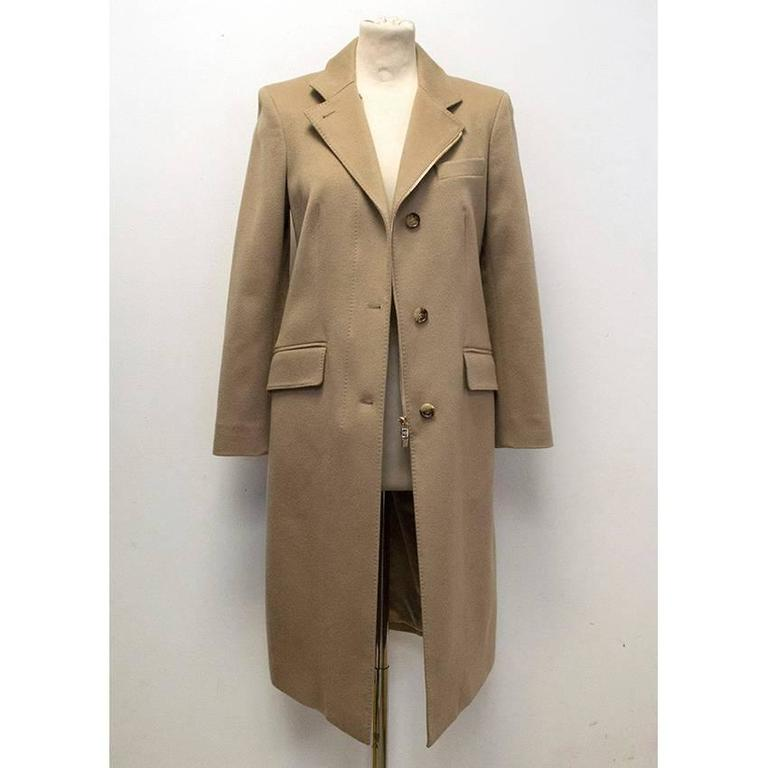 Loro Piana Camel Cashmere Coat For Sale at 1stdibs