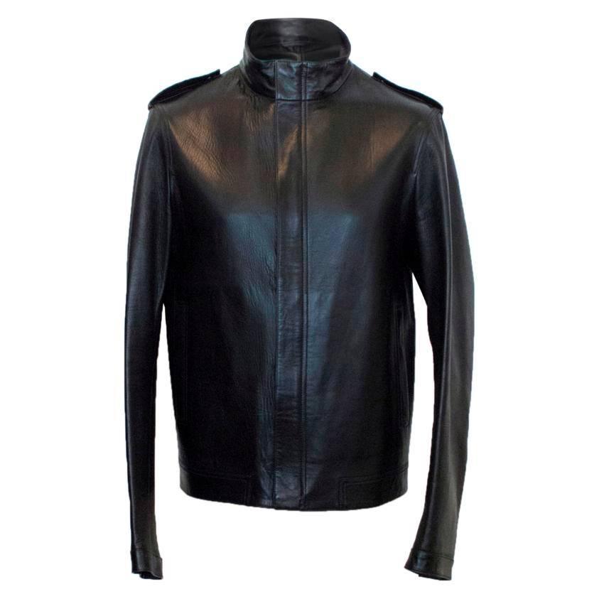 Simon Spurr Leather Bomber Jacket For Sale at 1stdibs