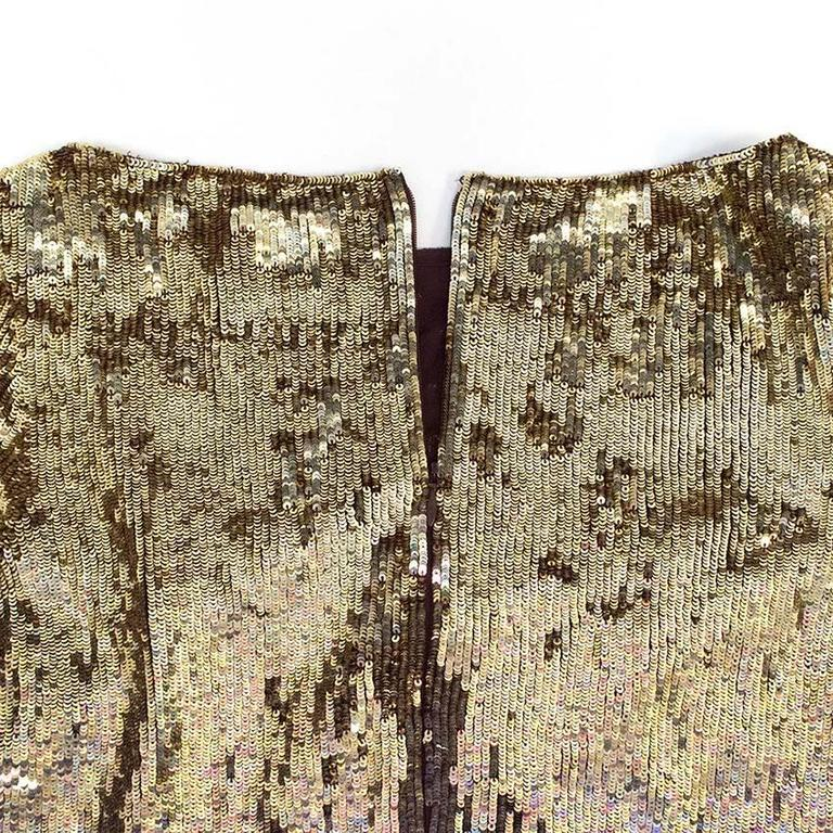 Matthew Williamson Gold and Plum Sequinned Dress  5