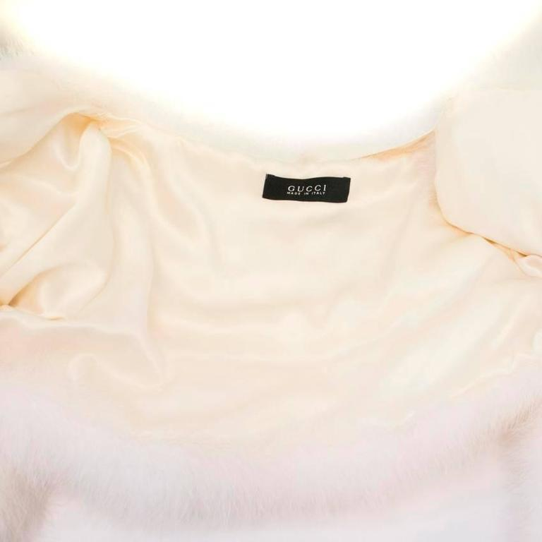 Tom Ford for Gucci White Marabou Bolero For Sale 4