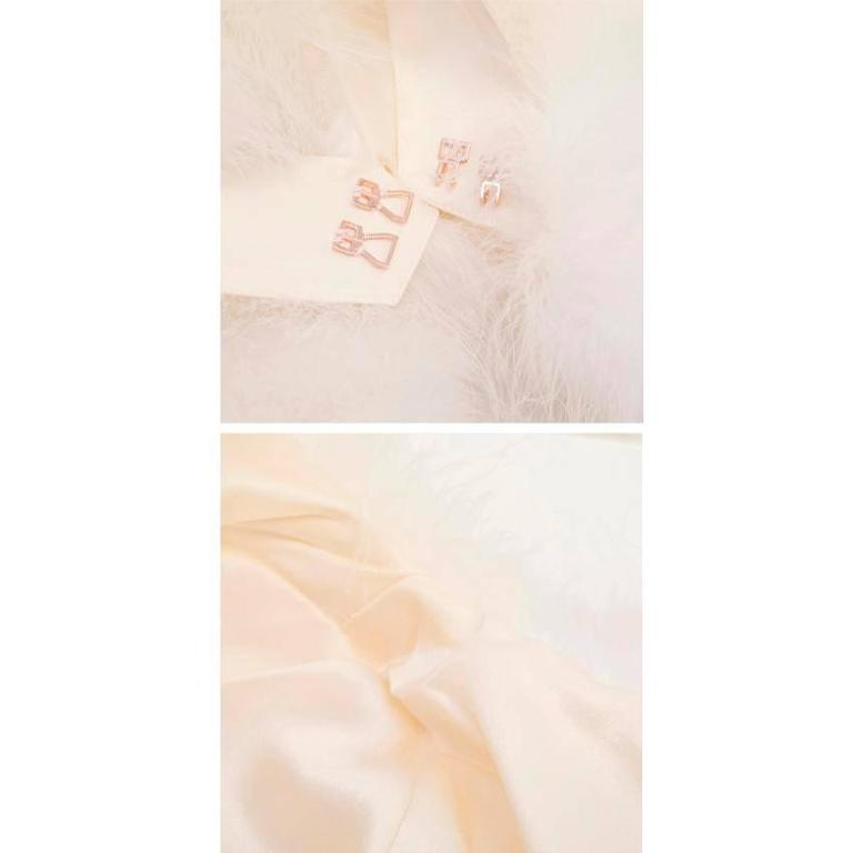 Tom Ford for Gucci White Marabou Bolero For Sale 6
