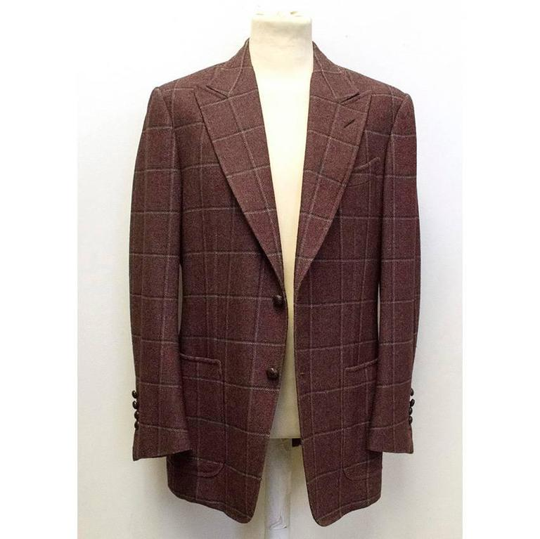 Tom Ford 52R Eggplant Wool Blazer In New never worn Condition For Sale In London, GB
