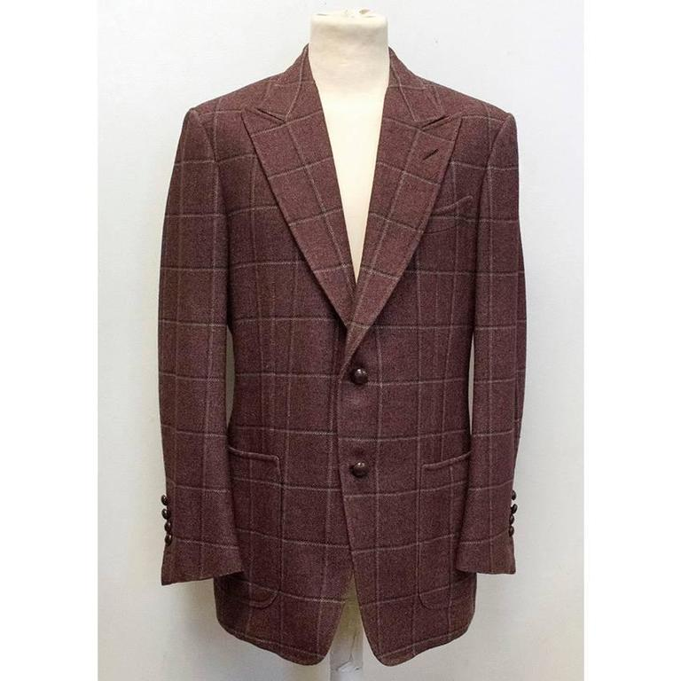Tom Ford 52R Eggplant Wool Blazer. Never worn and in excellent condition, without tags. Condition 10/10. Size 52R. Dry clean only. Made in Switzerland.