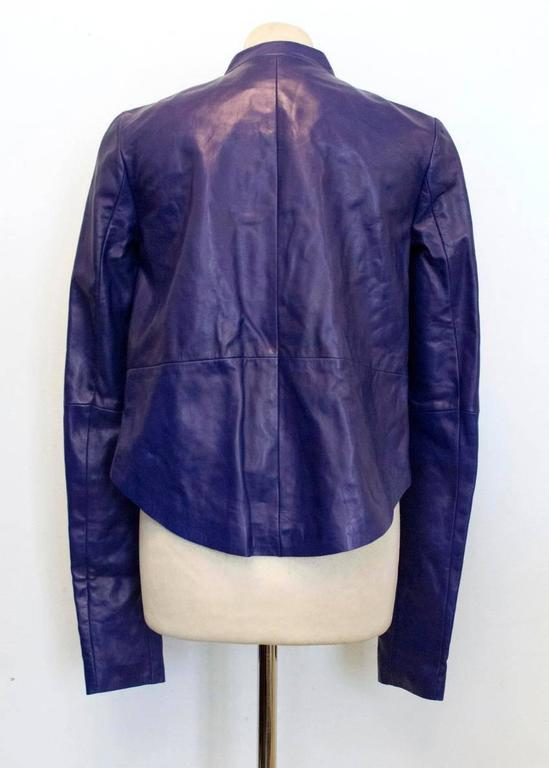Purple Vionnet purple leather jacket For Sale