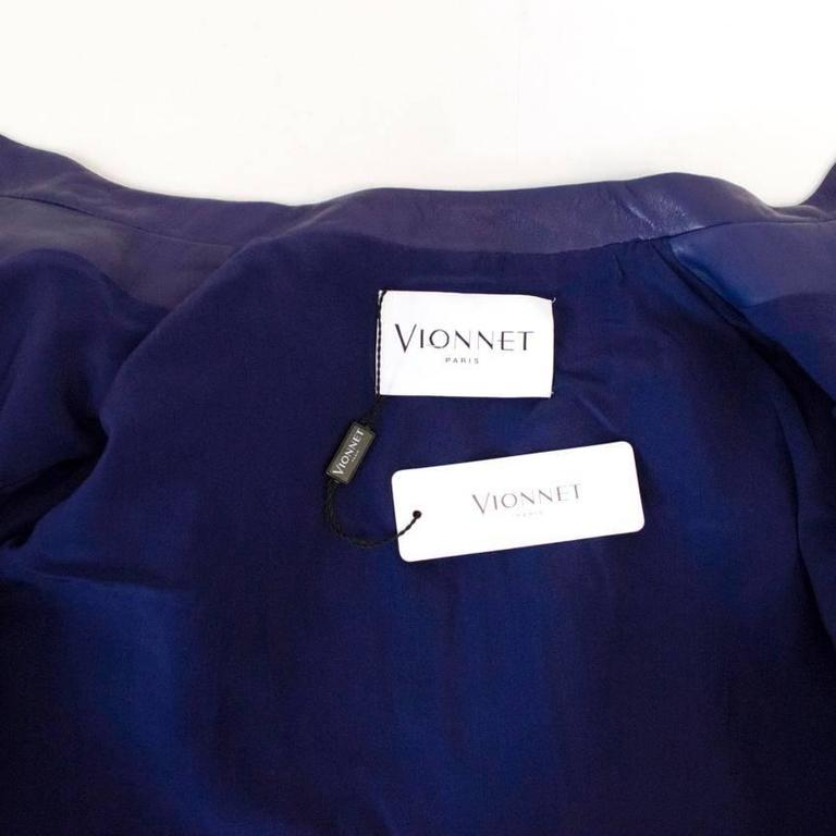 Women's Vionnet purple leather jacket For Sale