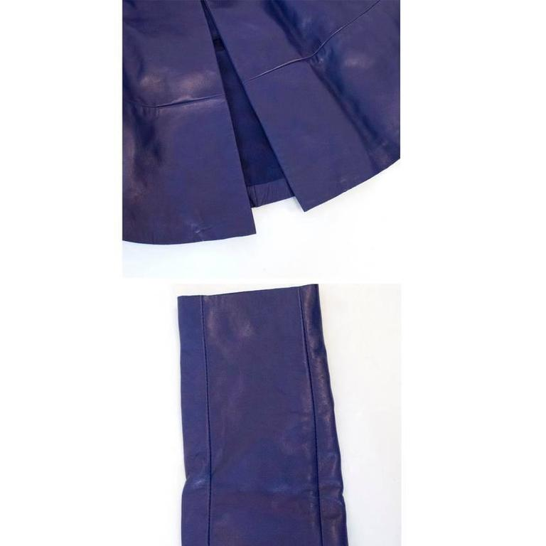Vionnet purple leather jacket For Sale 4