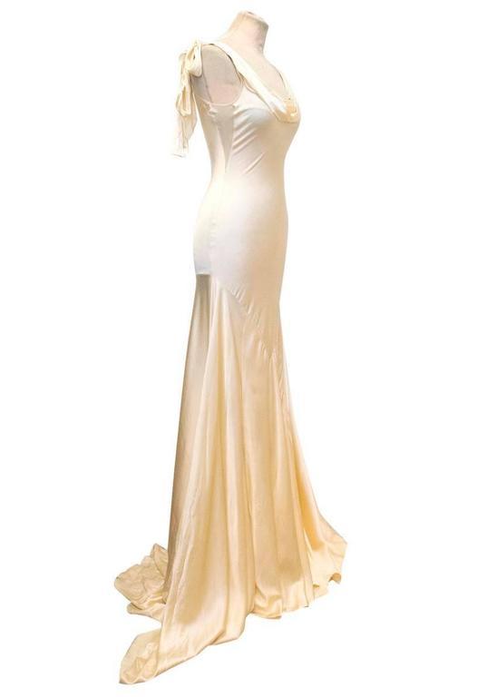 Luisa Beccaria Cream Silk Wedding Gown 3