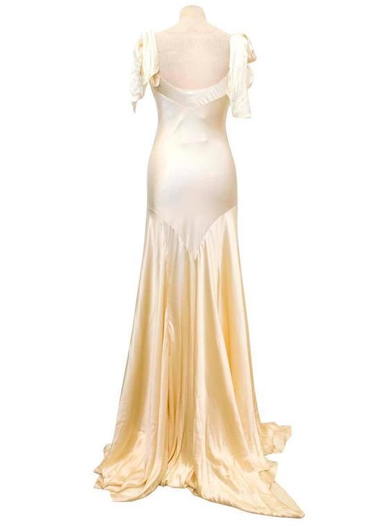 Luisa Beccaria Cream Silk Wedding Gown 4