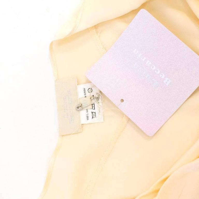 Luisa Beccaria Cream Silk Wedding Gown 5