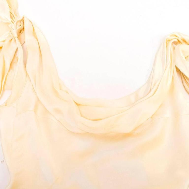 Luisa Beccaria Cream Silk Wedding Gown 6