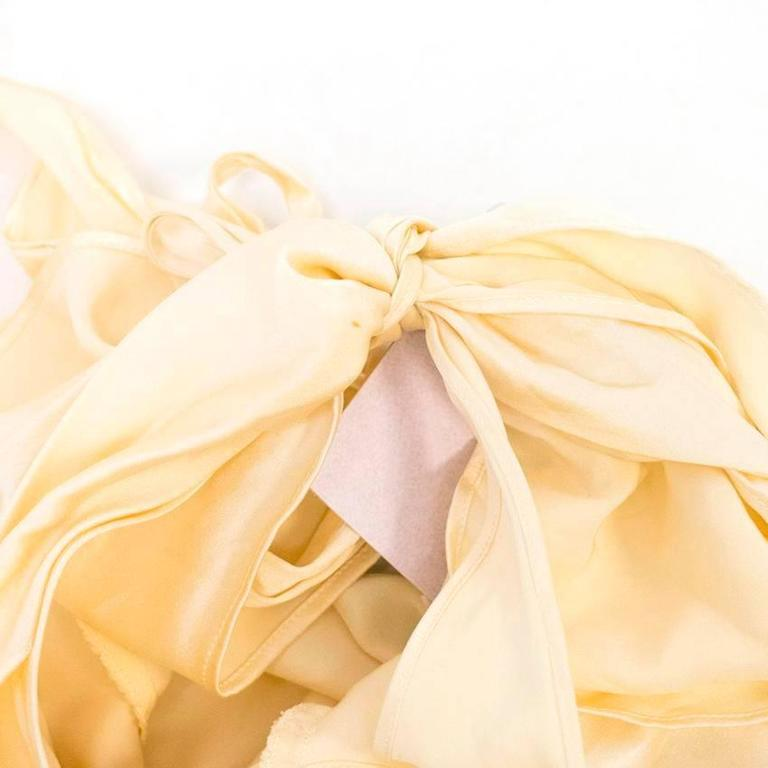 Luisa Beccaria Cream Silk Wedding Gown 7