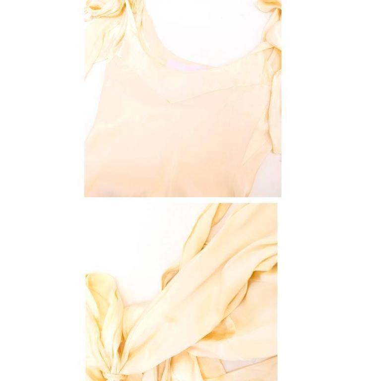 Luisa Beccaria Cream Silk Wedding Gown 8