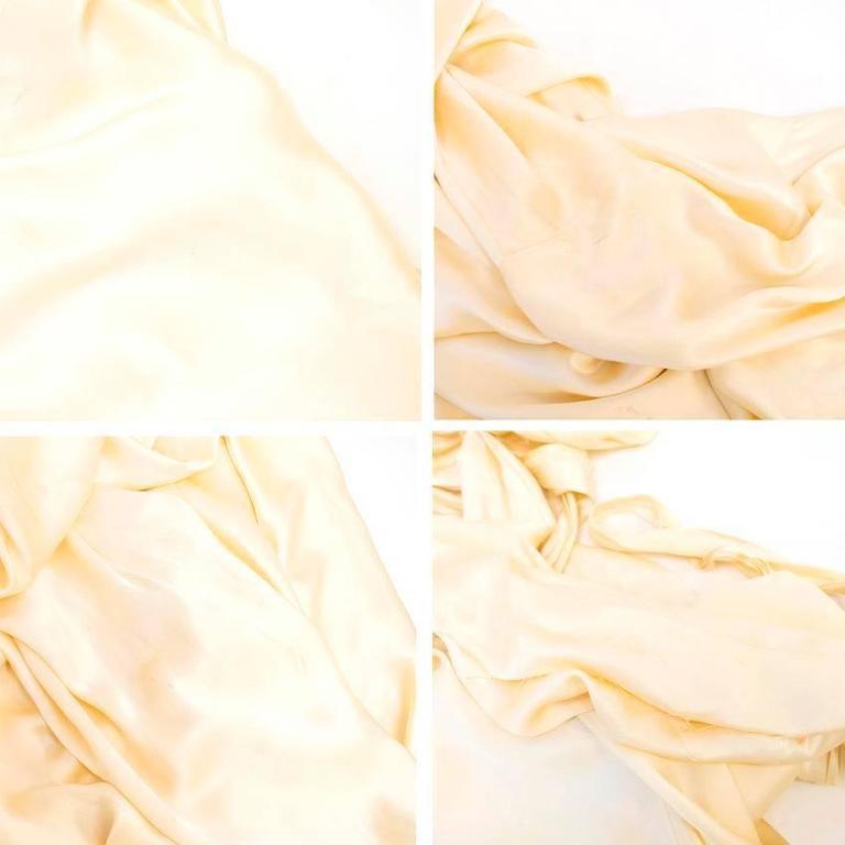 Luisa Beccaria Cream Silk Wedding Gown 9