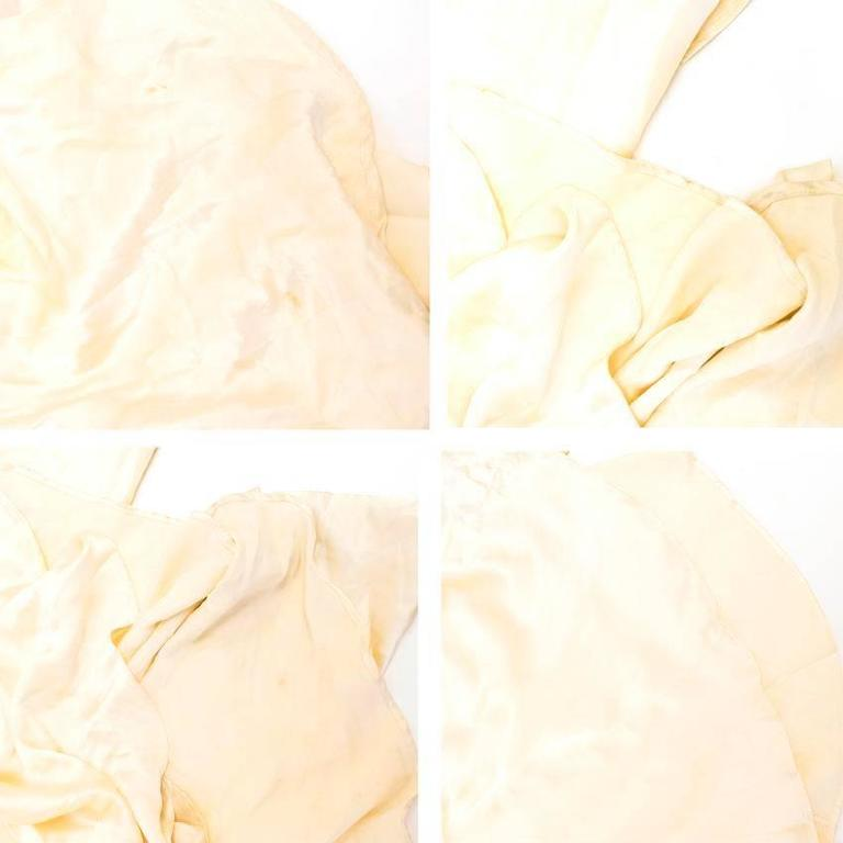 Luisa Beccaria Cream Silk Wedding Gown 10
