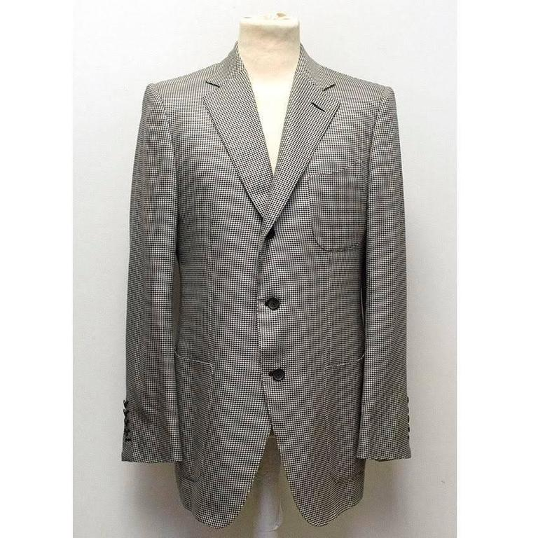 Tom Ford Black and White Dog Tooth Check Blazer 2