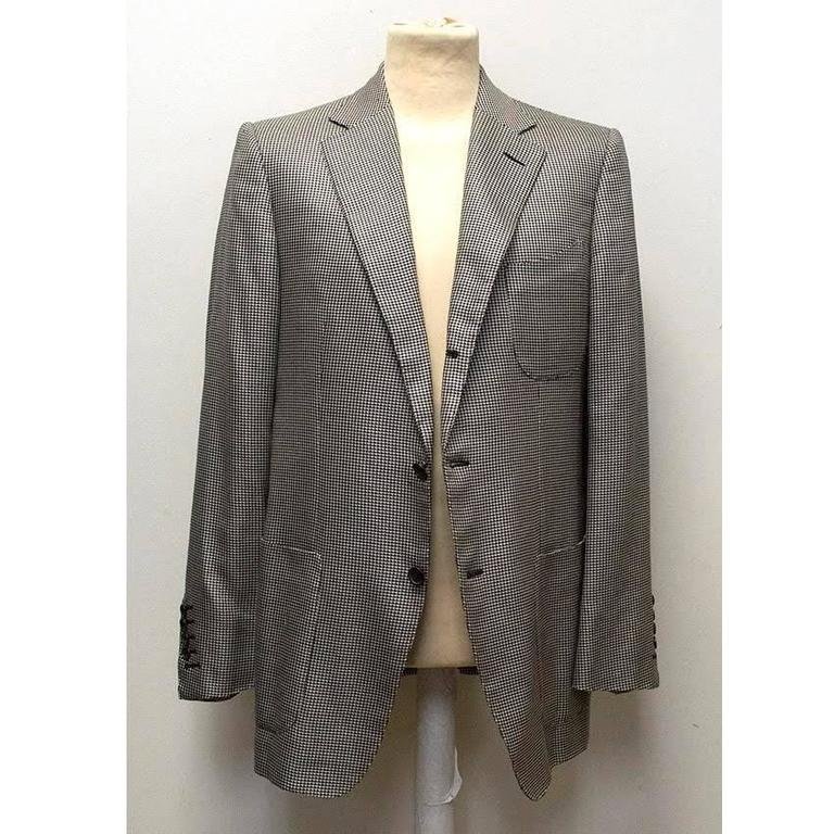 Tom Ford Black and White Dog Tooth Check Blazer 5