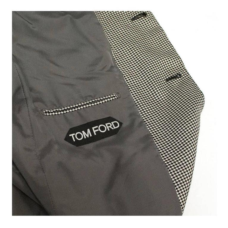 Tom Ford Black and White Dog Tooth Check Blazer 7