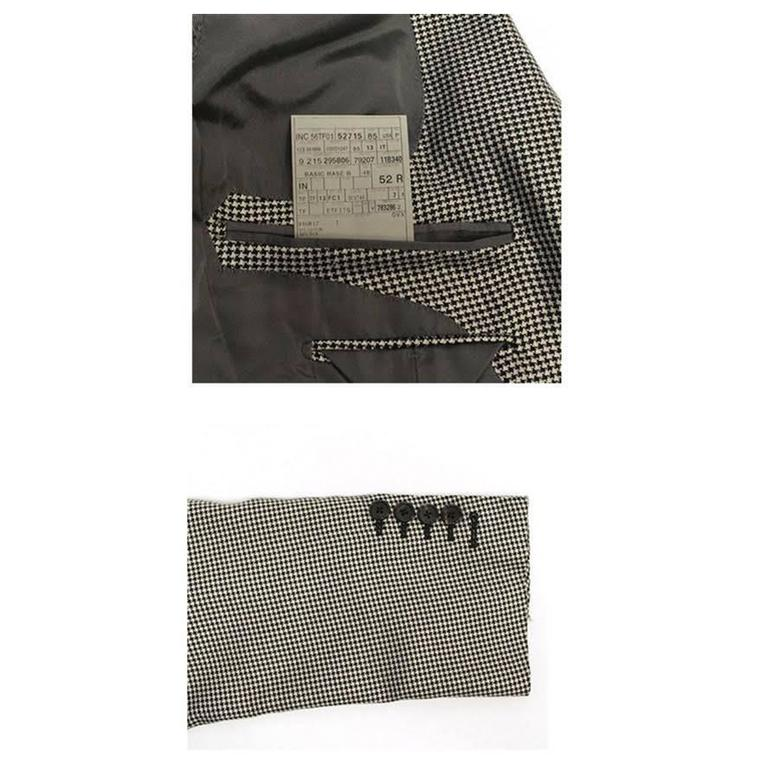 Tom Ford Black and White Dog Tooth Check Blazer 8