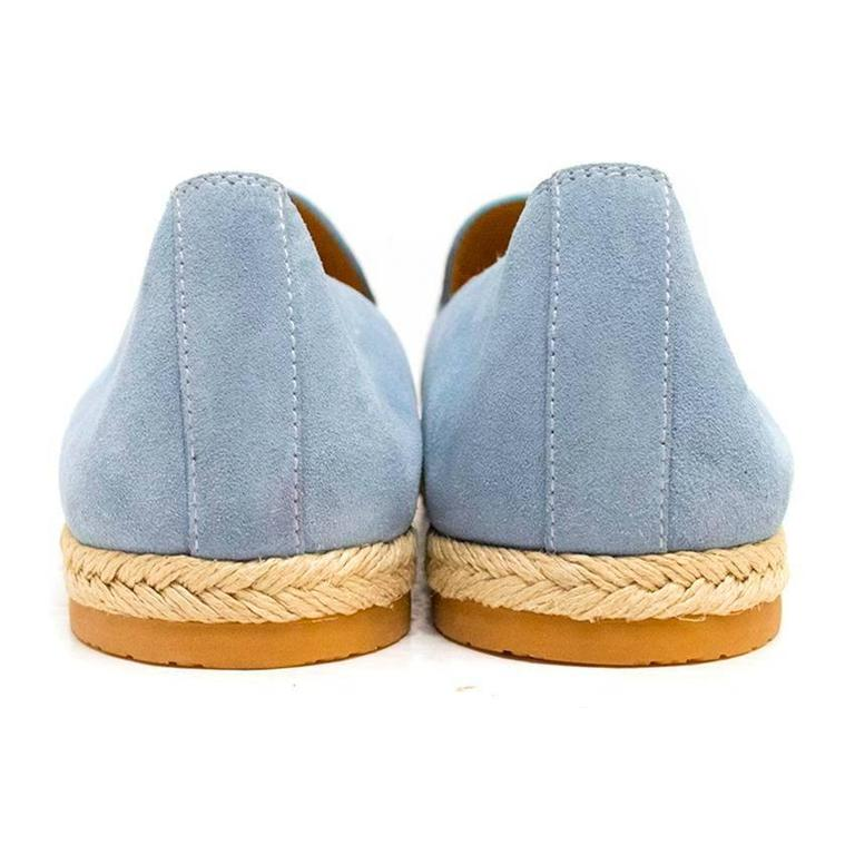 Gucci Light Blue Suede Loafers 3