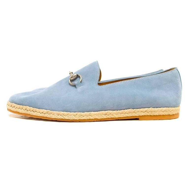 Gucci Light Blue Suede Loafers 4
