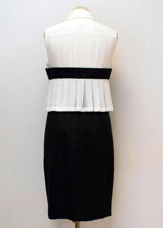 Chanel Black and Cream Dress with Black Bow Detail 4