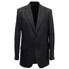 Burberry Dark Grey Wool Blend Blazer