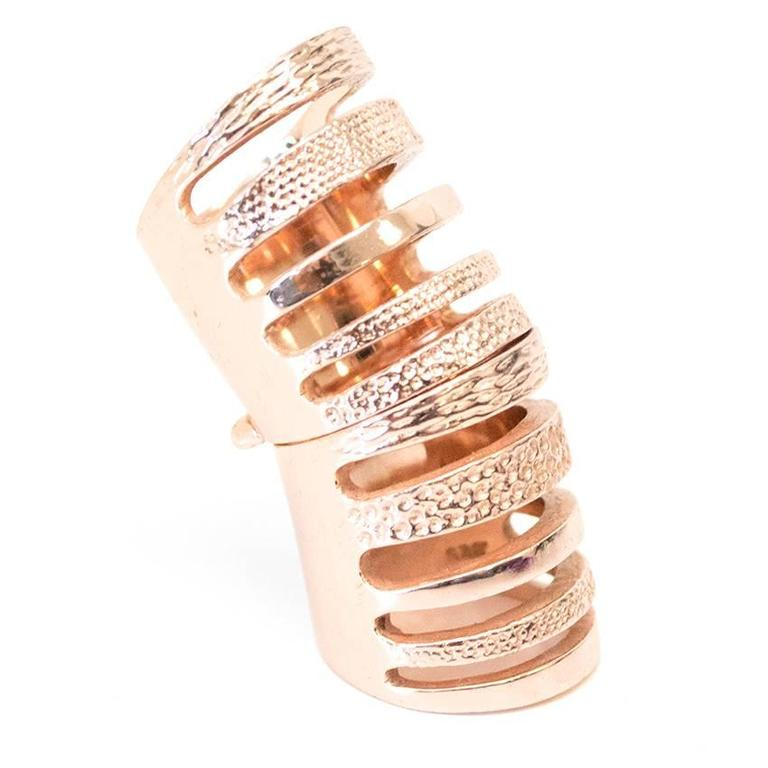 Liberty London gold rose double ring 3
