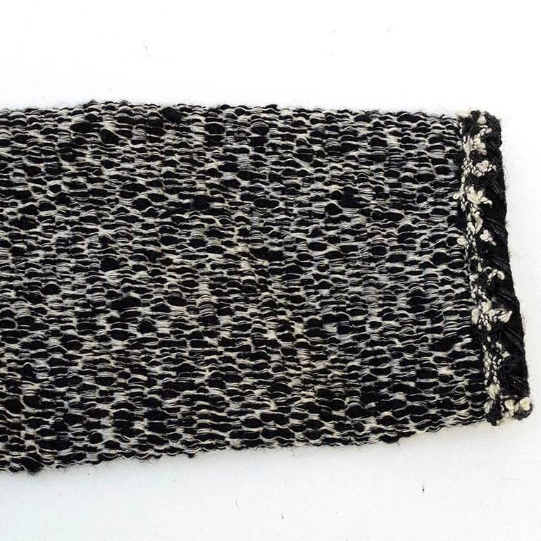 Women's Chanel Black and White Tweed Jacket