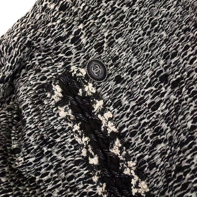 Chanel Black and White Tweed Jacket 1