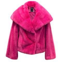 Christian Dior Bright Pink Mink Fur Jacket