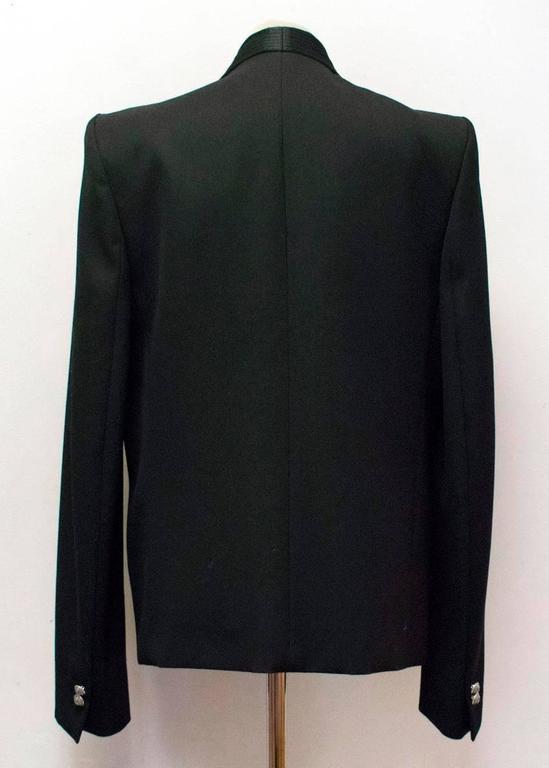 Balmain Black Military Style Jacket 4