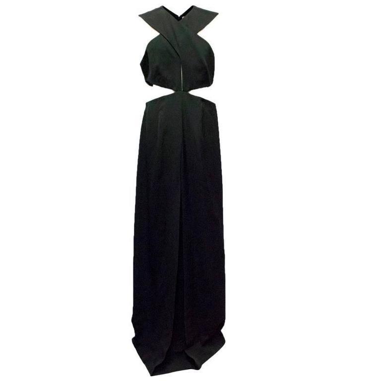 Christopher Kane Black Cutout Gown
