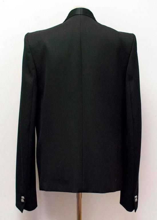 Balmain Black Military Style Jacket In New never worn Condition For Sale In London, GB