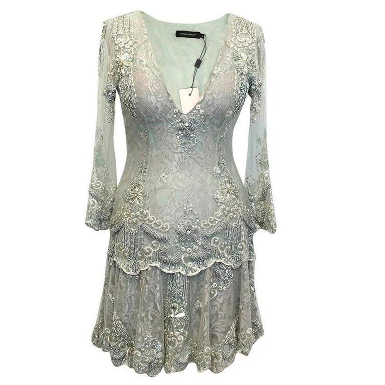 Patricia Bonaldi Mint Embellished Mini Dress For Sale at ...