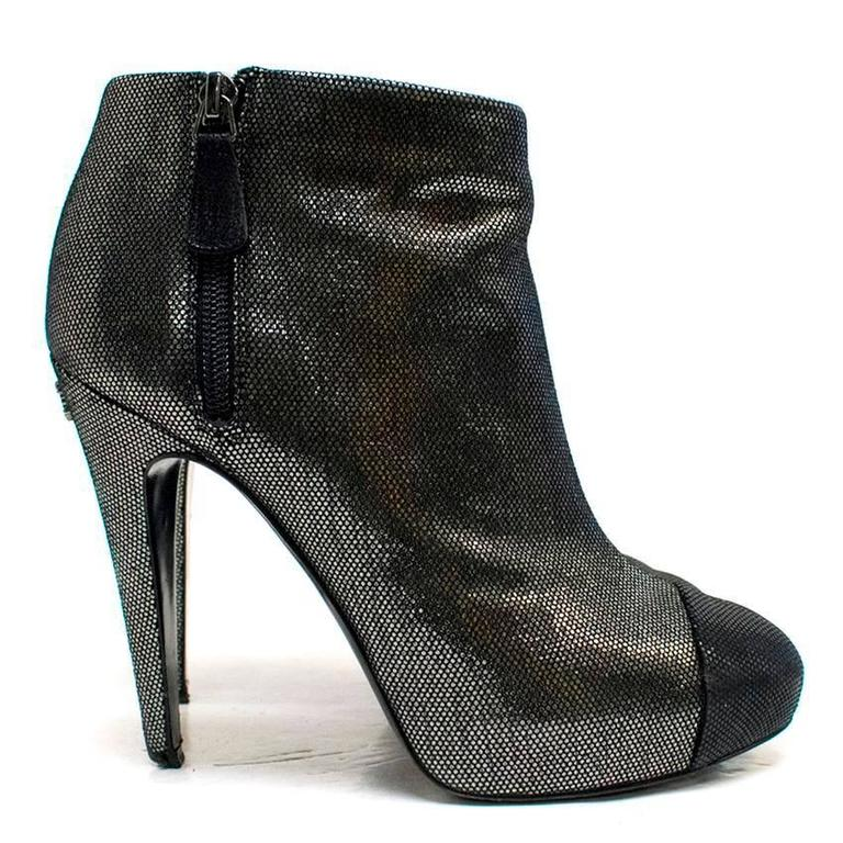 Chanel Metallic Ankle Boots 5