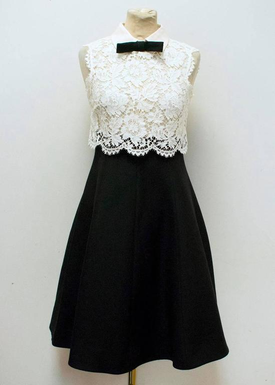 Valentino Spa White Lace And Black Dress At 1stdibs