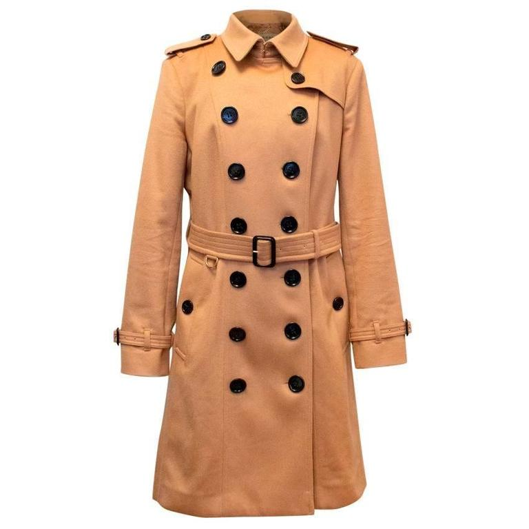 Burberry 'Sandringham' Tan Cashmere Trench Coat