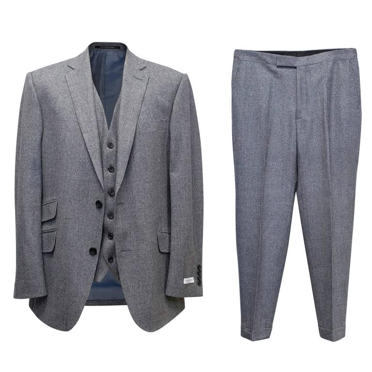 Richard James Grey Checked Three Piece Suit 1