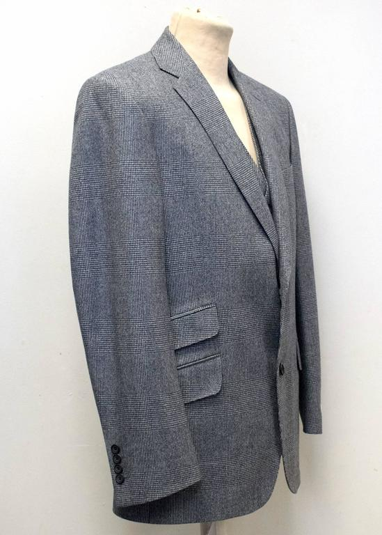 Richard James Grey Checked Three Piece Suit 3